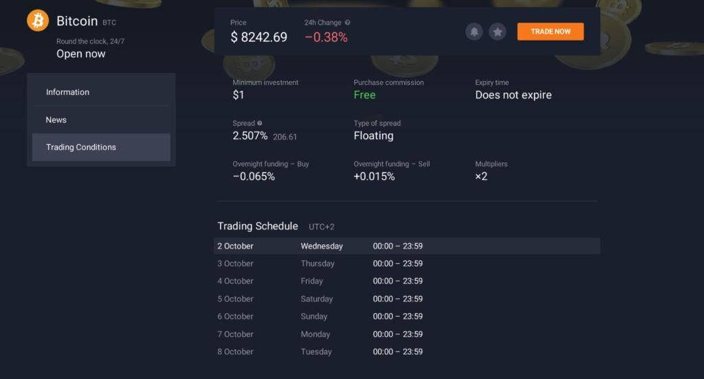 bitcoin trading opțiuni iq)