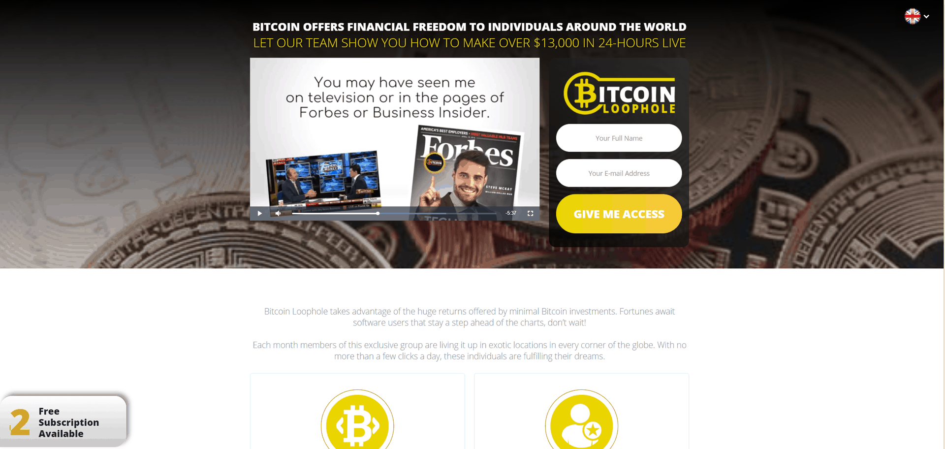 Bitcoin Loophole – Earn Real Cash! Currency have evolved dramatically in this modern era, from a certain country's regular currency, people are now introduced to cryptocurrency. This is a digital currency that uses bitcoin that people can use in paying different online transactions such as online shopping and ticket booking.